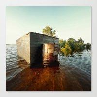 La maison du Lac Canvas Print