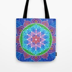 Lotus Flower of Life Tote Bag