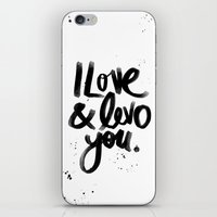 I Love & Levo you iPhone & iPod Skin