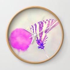 Butterfly Bokeh Wall Clock