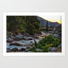 Rushing River Art Print