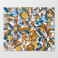 Multicolor Horse Feathers Canvas Print