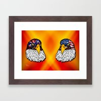 Confederate and Union Eagles Framed Art Print