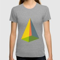 Pyramid Womens Fitted Tee Tri-Grey SMALL