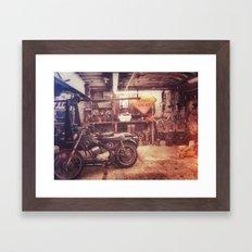 Basement Bike Framed Art Print