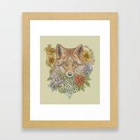 Fox Garden Framed Art Print