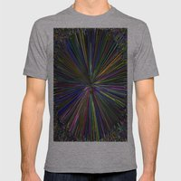Abstract 3D Art Mens Fitted Tee Athletic Grey SMALL