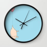 Hippo Delivery  Wall Clock