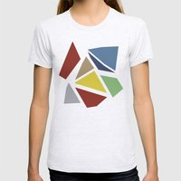 Abstraction Womens Fitted Tee Ash Grey SMALL
