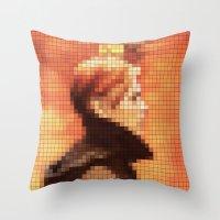 Bowie : Low Pixel Album … Throw Pillow