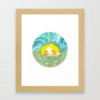 Lady Moon Framed Art Print