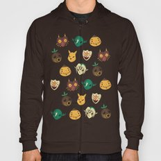 Pattern Of Masks.  Hoody
