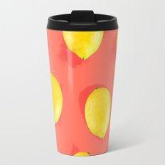 Watercolor Lemons Travel Mug
