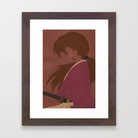 Ruroni Kenshin Framed Art Print