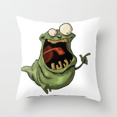 Slimer and his Peep Throw Pillow
