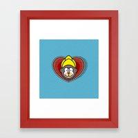 Indian Monkey God Icon Framed Art Print