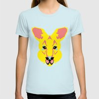 Skippy the Bush Kangaroo Womens Fitted Tee Light Blue SMALL