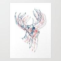 Deerly Beloved Art Print