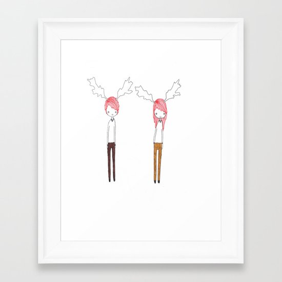 Two Best Friends Framed Art Print