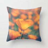 Poppyland Throw Pillow