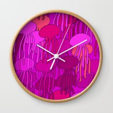 Jellyfish Pink Wall Clock