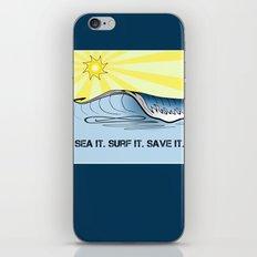 Sea It ~ Surf It ~ Save It iPhone & iPod Skin