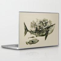 shark Laptop & iPad Skins featuring shark by Кaterina Кalinich