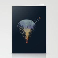 Hot Air Balloon At Sunset Stationery Cards