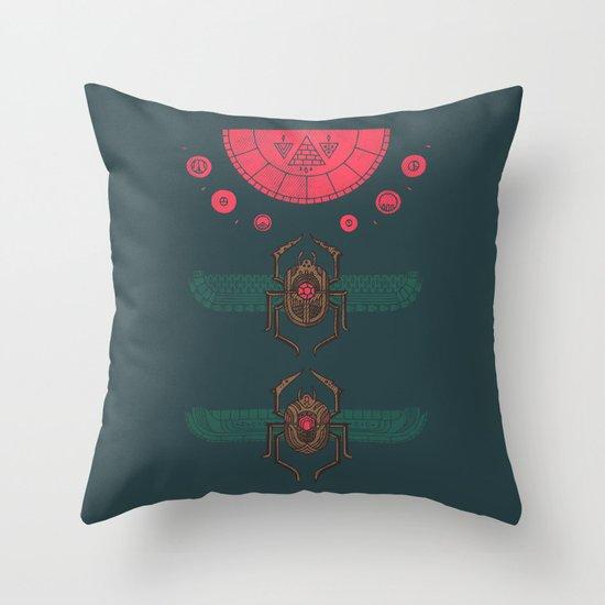 Scarabs Throw Pillow