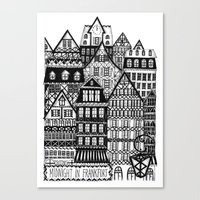 Midnight in Frankfurt Canvas Print