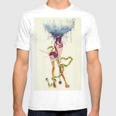 Electra White SMALL Mens Fitted Tee