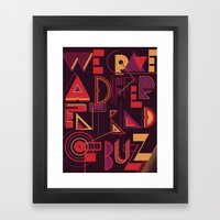 A Different Buzz Framed Art Print