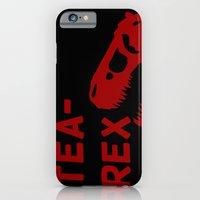 iPhone & iPod Case featuring Tea-Rex by FindChaos