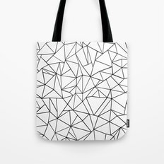 Abstract Outline Black on White Tote Bag