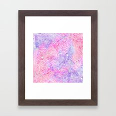 Pink Purple Paisley Love Framed Art Print