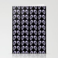 blue print skull Stationery Cards
