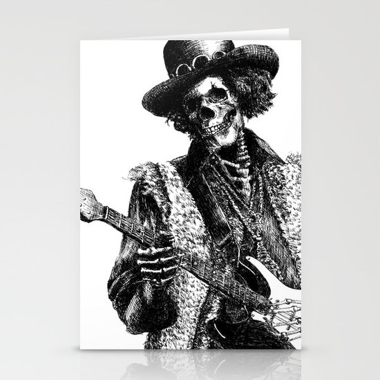 The Legend of Guitarist Stationery Card