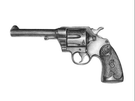 Revolver Canvas Print