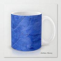 Deep Blue Marble Coffee … Canvas Print