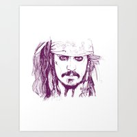 Captain Jack - Pirates O… Art Print