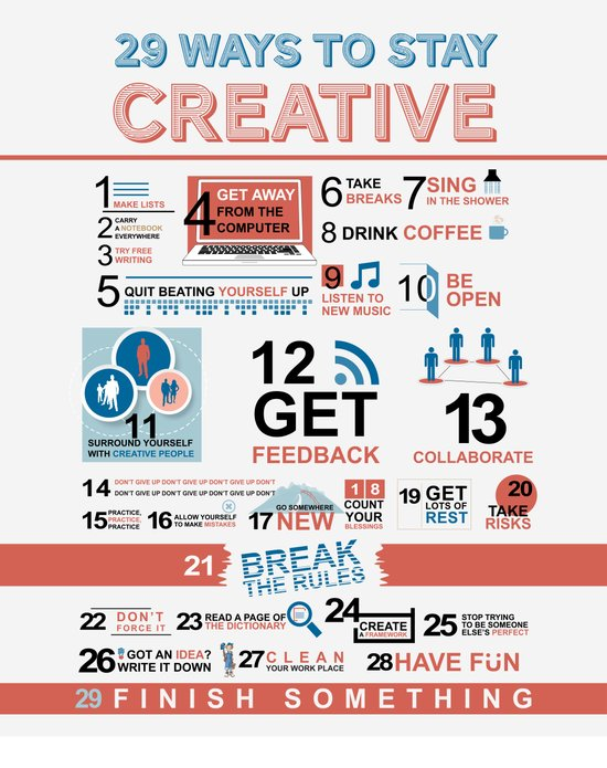 29 ways to stay creative  Canvas Print