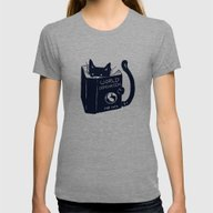 World Domination For Cat… Womens Fitted Tee Tri-Grey MEDIUM