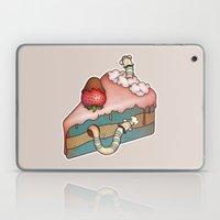 SWEET WORMS 3 - strawberry cake Laptop & iPad Skin