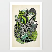 The flying snail Art Print