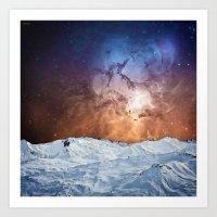Cosmic Winter Landscape Art Print