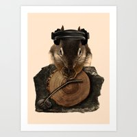 Squirrel DJ Art Print