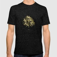 Roses Gold Mens Fitted Tee Tri-Black SMALL