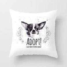 Adopt Throw Pillow