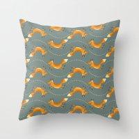 Fox Hop Throw Pillow