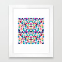 Triangles #4 Framed Art Print